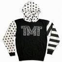 tmt-mo35-2kw THE MONEY TEAM ザ・マネーチーム パーカーTMT DECLARATION 黒ベース×スター フロイド・メイウェザー ボクシング 男性 メンズ ブラック プリント アメリカ 国旗 TMT WBC WBA( スポーツ おしゃれ 長袖 メイウエザー )