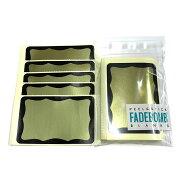 FADEBOMB-Metallic-BorderNameBadgeLabelラベルシール50枚セット/名札ラベル宛名シール【メール便OK】
