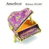 amethystアンティークピアノ/ジュエリーボックス/トリンケットボックス/プチギフト/プレゼント/メルヘン/artform/objetd'art