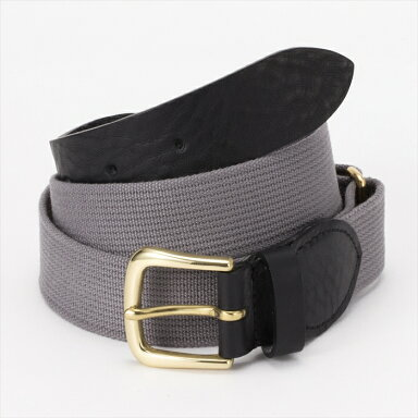 Fitzgerald Preppy Belt 18SSBL001: Black - Medium Grey