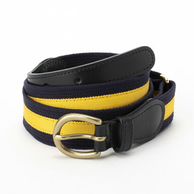 Fitzgerald Preppy Belt 19SSBL001: Midnight - Navy / Yellow