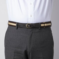 Fitzgerald Preppy Belt 19SSBL001: Brown - Dark Brown / Beige