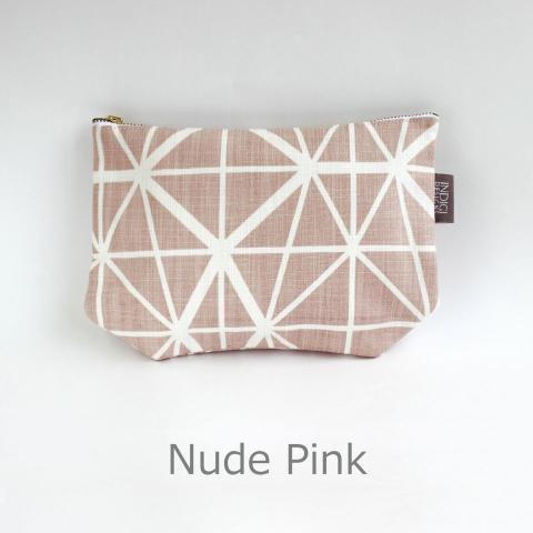 レディースバッグ, 化粧ポーチ Flat Pouch nude pink