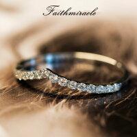 リング指輪レディース女性スワロフスキー結婚指輪K18金RGP金属アレルギー対策