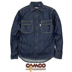 """【CAMCO】カムコ / """"L/S DENIM WORK SHIRTS"""" デニムシャツ ワークシャツ メンズ レディース トップス (INDIGO)"""
