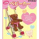 人形用ベビーカーかわいいピンクのくまさん柄