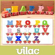 VILAC ( ヴィラック ) 木の おもちゃ / アルファベット トレイン アルファベット M 〜 Z ( 熨斗不可 )【RCP】.