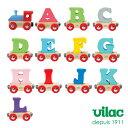 VILAC ( ヴィラック ) 木の おもちゃ / アルファベット トレイン 汽車、アルファベット A 〜 L ( 熨斗不可 )【 正規販売店 】