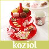 アフタヌーンティースタンド koziol ( コジオル ) フルーツ ケーキ 皿 BABELL ( バベル ) フルーツディッシュ / S レッド 【RCP】.