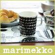 マリメッコ ( marimekko )マグカップ SIIRTOLAPUUTARHA(シイルトラプータルハ)Rasymatto ( ラシィマット ) ドット柄 / ブラック × ホワイト 【RCP】.