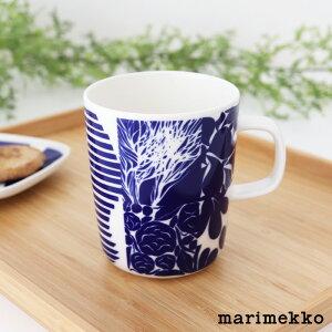 マリメッコ ルードゥット マグ 250ml / ブルー×ホワイト marimekko Ruudut mug cup 【 正規販売店 】