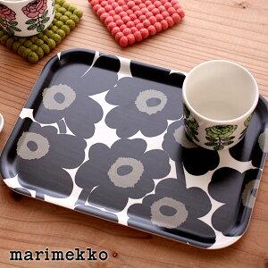 マリメッコ ( marimekko ) UNIKKO Playwood tray ミニトレイ / ブラック 【 正規販売店 】