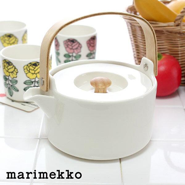 マリメッコ ( marimekko ) OIVA Tea pot ( オイバ ティーポット )/ ホワイト 【 正規販売店 】の写真