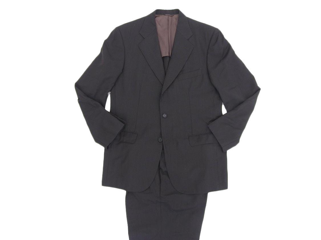 【WEEKLY SALE!! 期間限定!全品10%OFF!!】美品【ISAIA イザイア】 メンズ スーツ セットアップ テーラードジャケット パンツ ウール ブラック 50 【中古】 [20200911]