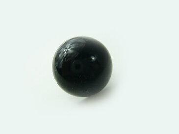 ソリッドアイ 24mmBC黒穴あき(1個) さし目・眼・鼻・アニマルアイ プードル・クマ・ねこ まん丸