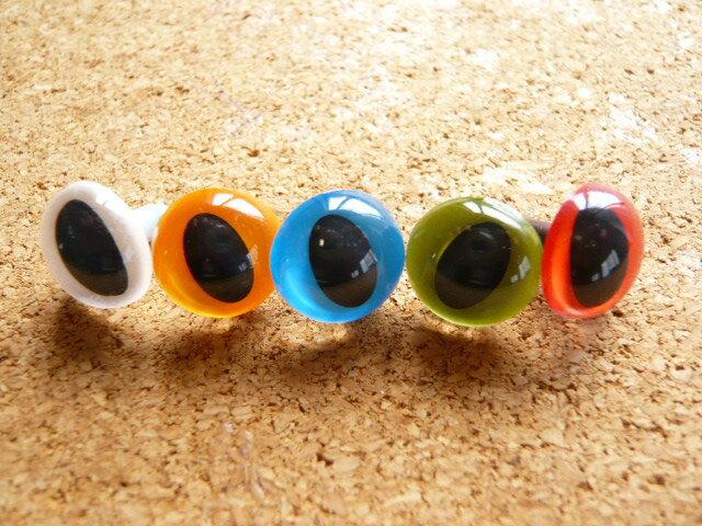 キャッツアイ12mm(ストレート)(1個) 猫目 さし目 眼 鼻 手芸材料