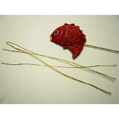 金糸 太(7掛) 14cm 1本 手芸材料ちりめん細工を豪華に仕上げるためにかかせない