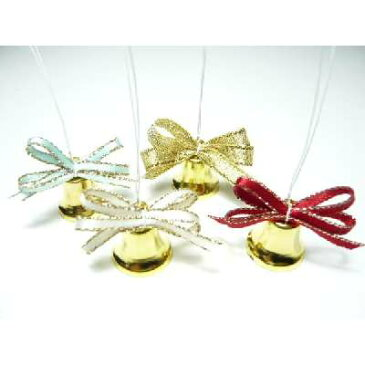 ベル 金 17mm 1個 可愛いラメリボンつき クリスマス オーナメント 手芸材料