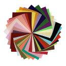 ちりめんはぎれセット一越無地30枚10cm×10cm小さいサイズ)色の一覧表付き