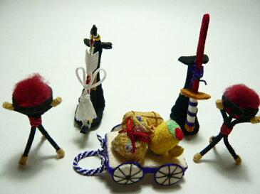 端午の節句・五月人形・こどもの日◆伝統美を楽しむ♪お部屋やお店を飾るちりめん細工の和雑貨◆侍出陣武具5点セット
