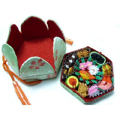 ちりめん和小物 【レターパック対応】ギフトボックス・和小物◆伝統のちりめん細工で作ったミニ...