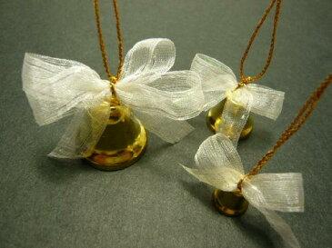ベル 17mm 可愛いリボンつき 結婚式 クリスマス オーナメント 手芸材料