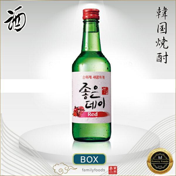 ジョウンデーRED(ザクロ味)360ml 1BOX*20本 韓国食品/韓国食材/韓国料理/韓国お土産/酒/お酒/焼酎/韓国酒/韓