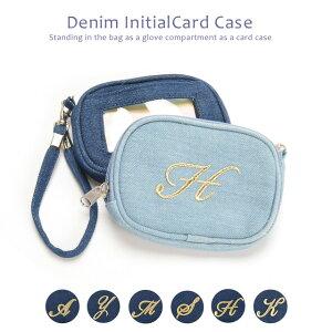 ランキング デニムパスケース イニシャル ポイント クレジットカード コインケース レディース
