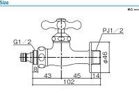 立水栓用ホース用蛇口/プレーンフォーセット・ホース用蛇口