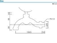 立水栓用蛇口/センスイフォーセット