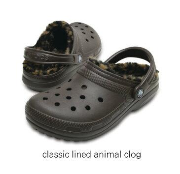 【クロックス crocs 】classic lined animal clog/クラシック ラインド アニマル クロッグ