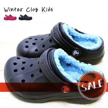 エントリーでポイント14倍【クロックス crocs キッズ】winter clog kids/ウィンター クロッグ キッズ