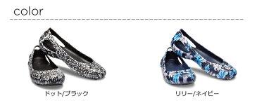 【クロックス crocs レディース】kadee graphic flat w/カディ グラフィック フラット ウィメン