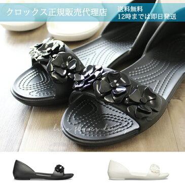 【クロックス crocs レディース】lina flower dorsay/リナ フラワー ドルセー ウィメン