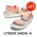 【クロックス crocs レディース】literide sandal/ライトライド サンダル/メロンxホワイトの商品画像