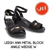【クロックス crocs レディース b】leigh ann metal block ankle wedge w / レイ アン メタルブロック アンクル ウェッジ ウィメン