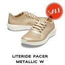 【クロックス crocs レディース】literide pacer metallic w/ライトライド ペイサー メタリック ウィメン