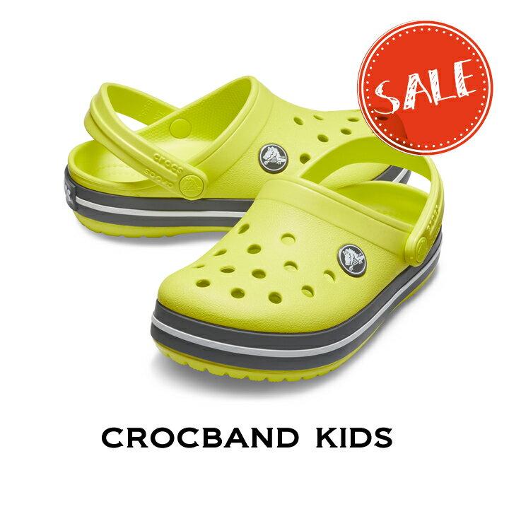 【クロックス crocs キッズ】crocband kids/クロックバンド キッズ/シトラスxスレートグレー画像