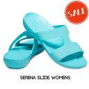 【クロックス crocs レディース】serena slide/セレナ スライド ウィメン/ぺたんこ
