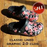 【クロックス crocs 】classic lined graphic2.0 clog/クラシック ラインド グラフィック2.0 クロッグ/メンズ レディース