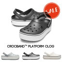 【クロックス crocs レディース】crocband platform clog/クロックバンド プラットフォーム クロッグの商品画像