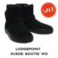 【クロックス crocs レディース b】 lodgepoint SE bootie/ロッジポイント スエード ブーティ ウィメン