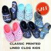 【クロックス crocs キッズ ボア】Classic Printed Lined Clog Kids / クラシック ...