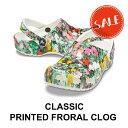 【クロックス crocs メンズ レディース】classic printed floral clog/クラシック プリンテッド フローラル クロッグの商品画像