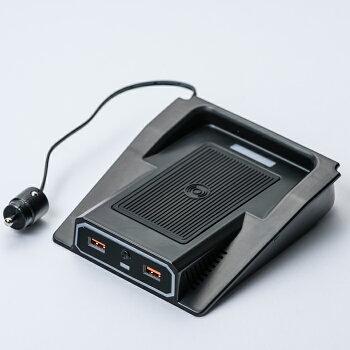 EXTRAWIRELESSCHARGERwithUSBPORTforJIMNYJB64/JB74|エクストラUSBポート付きワイヤレス充電器|スマホスマートフォンiPhone充電ワイヤレス