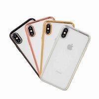 0e6b23c5f8 ... iPhone6sPlus スマートフォンケース クリア 透明 バンパー シリコン クリア 透明 iPhone7 iPhone6 plus ケース  シリコン TPU ソフト メッキ メタル サイド カバー