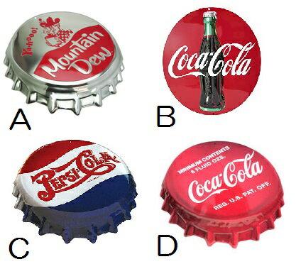 送料無料 メタルエンボスサイン COCA COLA COKE BOTTLE CAP PEPSI CAP MOUNTAIN DEW BOTTLE CAP COKE DISK