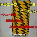 FAN OF BESTで買える「トラロープ#9x10m 境界ロープ 駐車場ロープ 標識ロープ タイガーロープ 黄黒ロープ 危険保守管理 イベント 催事 安全用具 工事用品 注意喚起」の画像です。価格は160円になります。