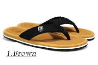 【送料無料】【即納】ベッカム愛用スタイリッシュなビーチサンダルメンズ5色サンダルメンズトングサンダル滑り止めビーサンベッカムクッション性ビーチ夏休みレッドグリーン茶色ブラウン