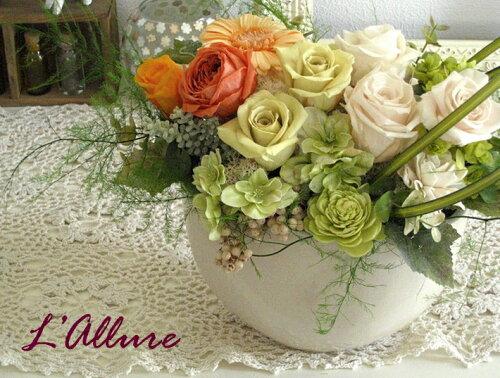 L'allureプリザーブドフラワー/母の日/還暦祝い/還暦/プレゼント...